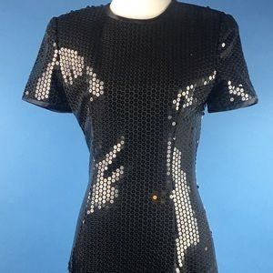 A.J. Bari black sequin cocktail dress